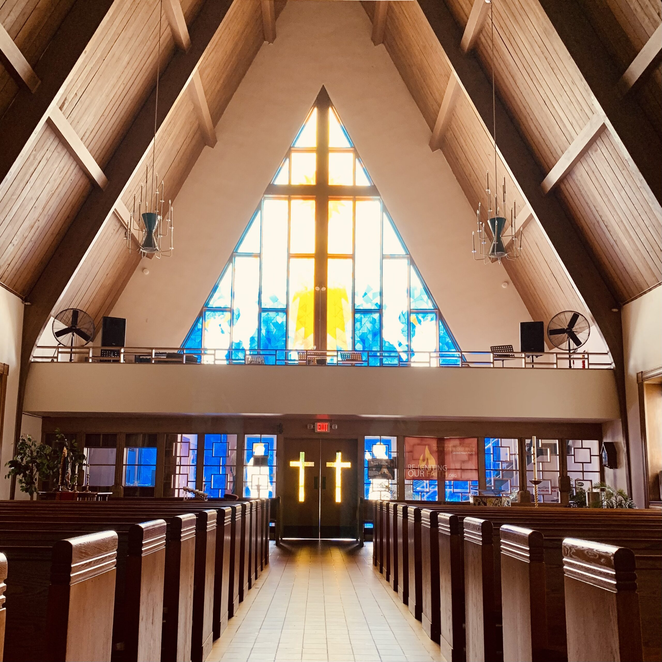 interior view of sacred heart church